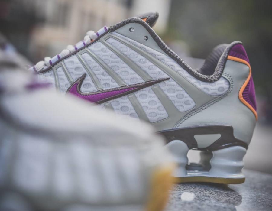 Nike Shox Total grise et violet (exclusivité Size) (1)