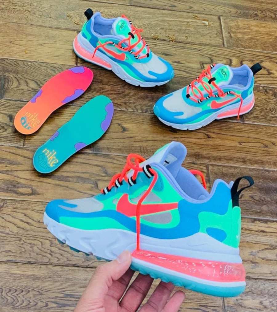 Nike Wmns Air Max 270 React Electro Green AT6174 300 (1)