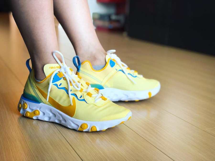 Nike Wmns React Element 55 Bicyle Yellow - @clao.christine