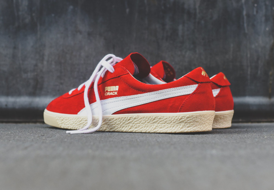 Puma Crack Heritage High Risk Red White pas cher