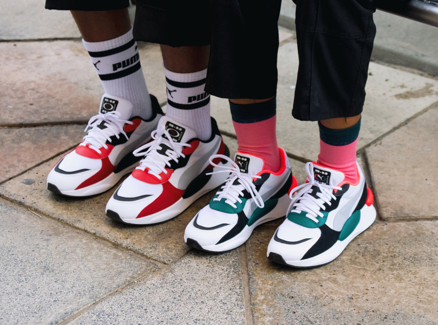Puma RS 9.8 Space Teal Green & High Risk Red