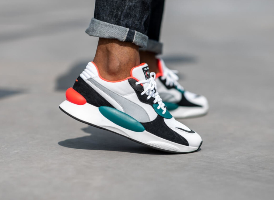 Puma RS 9.8 blanche rose vert turquoise 370230-04 (4)