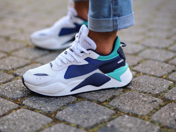 Puma RS-X Hard Drive White Galaxy Blue 369818-02