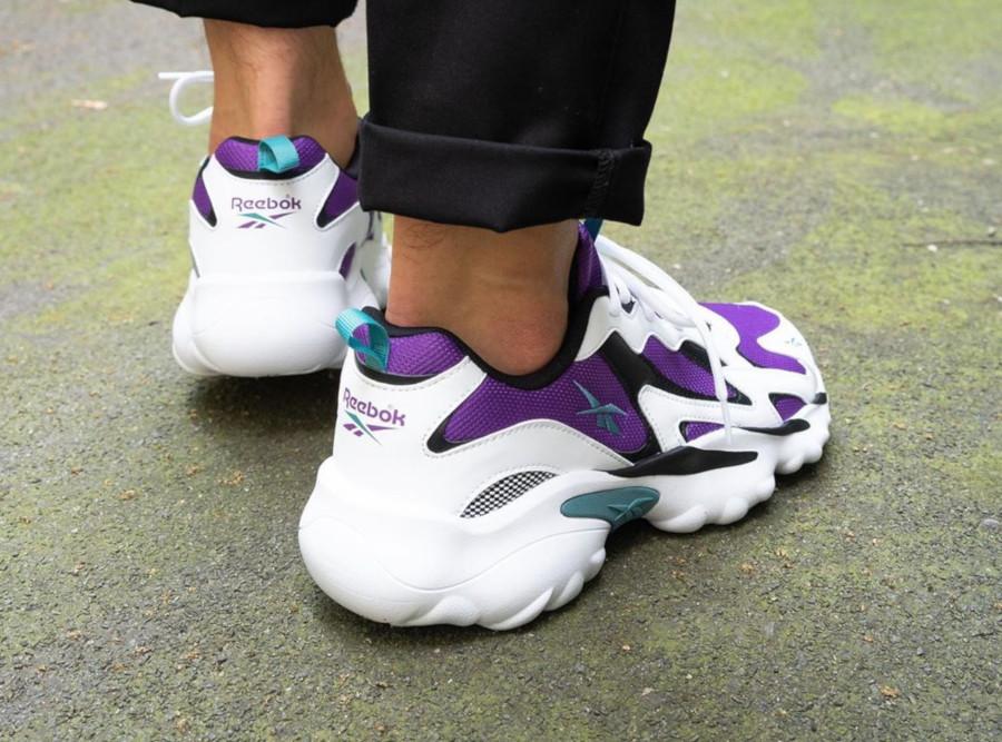 Reebok DMX Series 1000 blanche violette et turquoise (5)