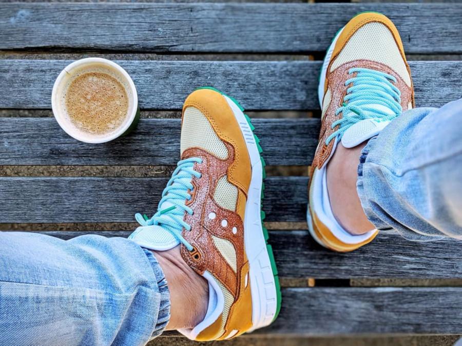 Sneakers Politics x Café du Monde x Saucony Shadow 5000 Beignet - @kickinitwithgee