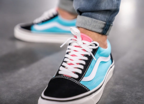 Vans Old Skool 36 DX Anaheim Factory Black Aqua