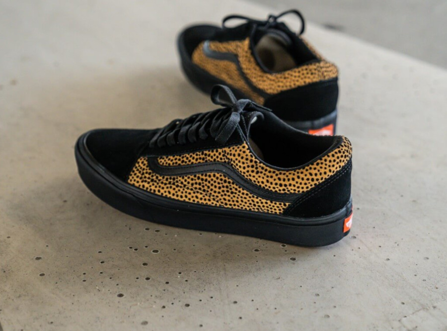 Vans Old Skool Comfycush W Black Cheetah Leopard