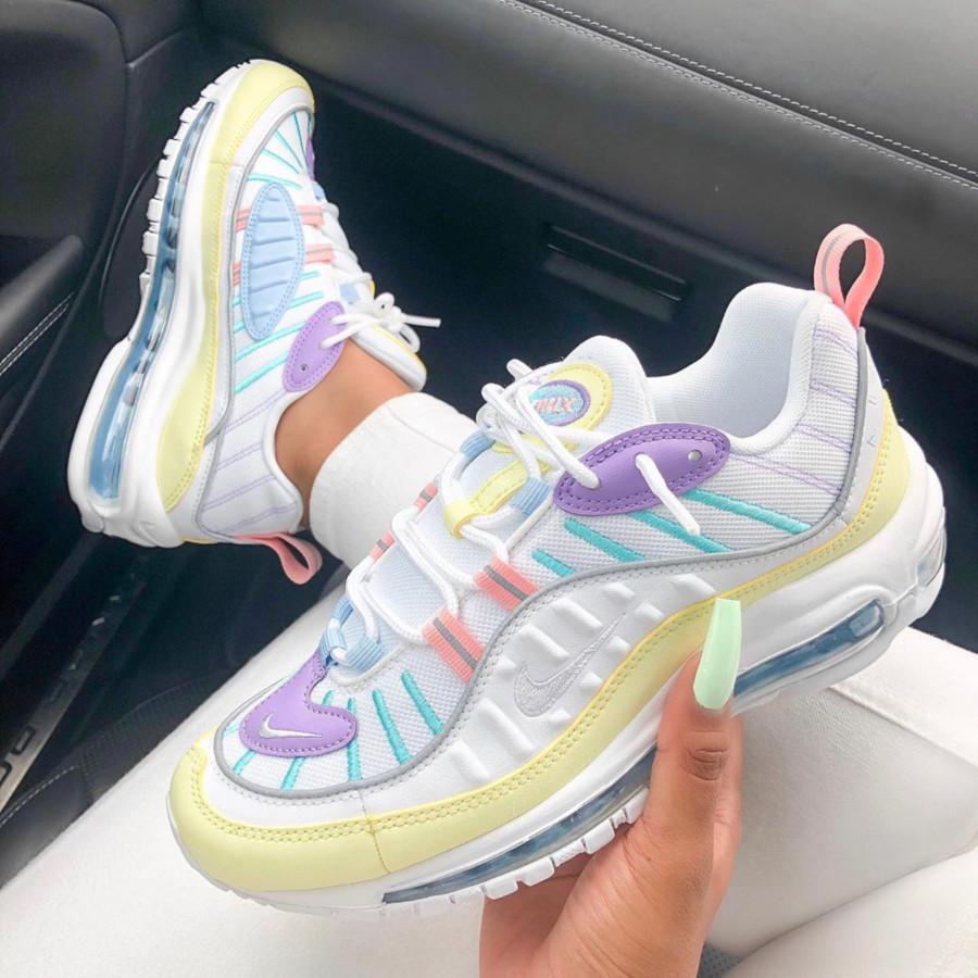 Faut acheter la Nike Wmns Air Max 98 Egg Easter Pastel ...