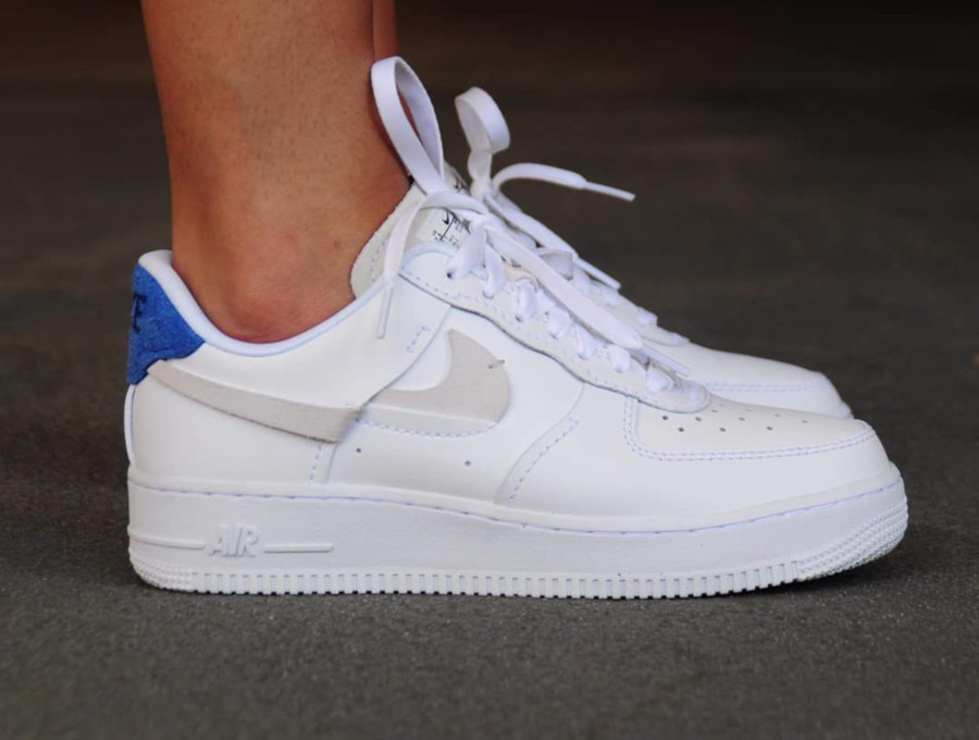 nike air force 1 bleu blanc rouge femme