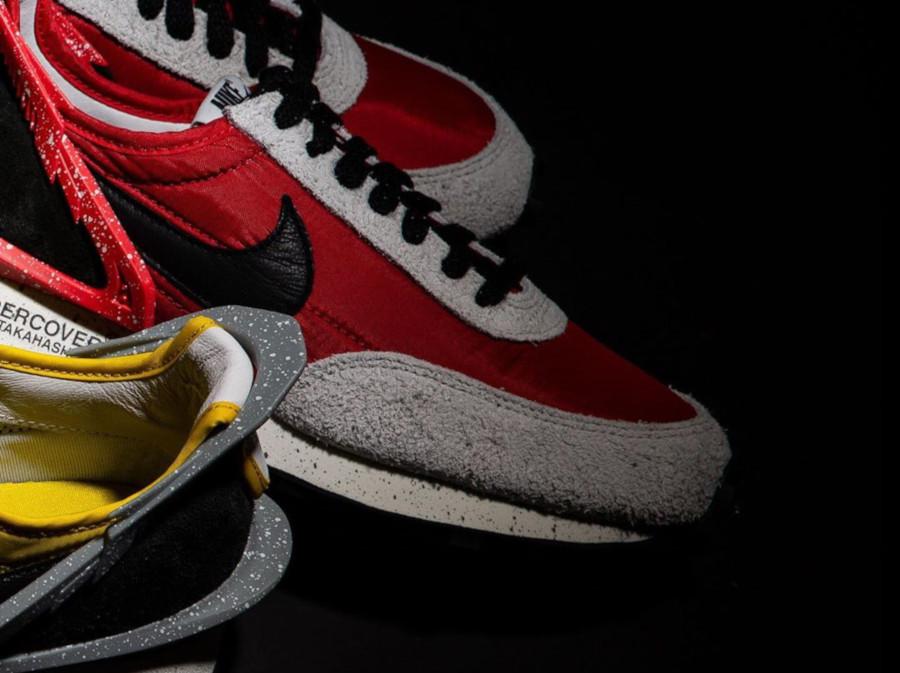 Womens Nike Daybreak rouge noire et grise CJ3295-600 (2)