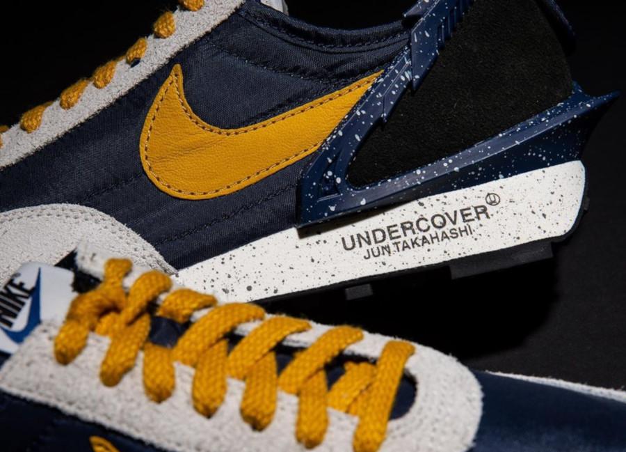 Womens Undercover x Nike Daybreak bleu foncé et jaune CJ3295-400 (1)