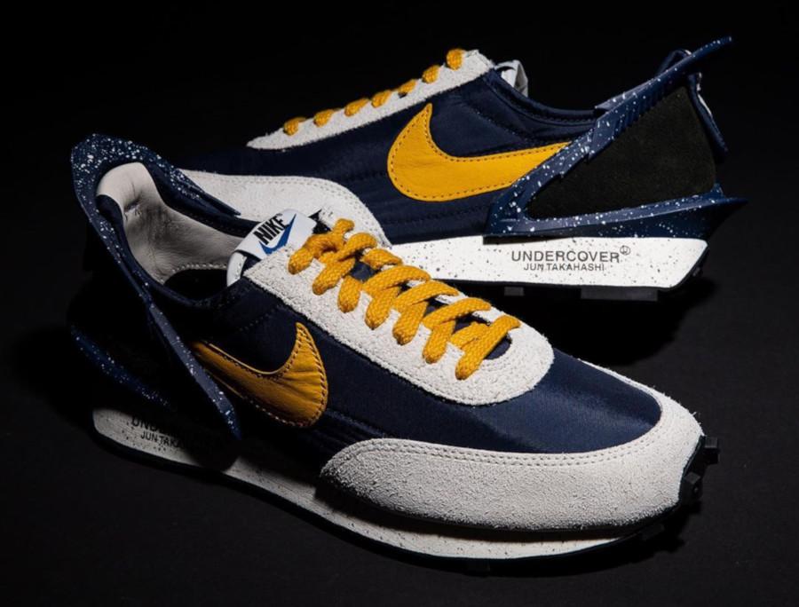 Womens Undercover x Nike Daybreak bleu foncé et jaune CJ3295-400 (2)