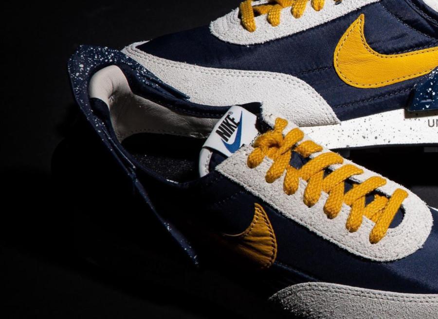 Womens Undercover x Nike Daybreak bleu foncé et jaune CJ3295-400 (3)