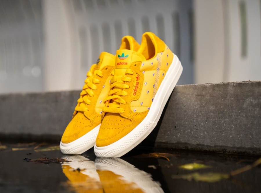 Adidas Continental Vulc jaune et orange mangue FV2709 (2)