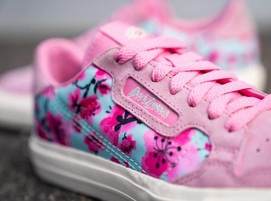 Adidas Continental Vulc rose avec des fleurs EG7977 (1)