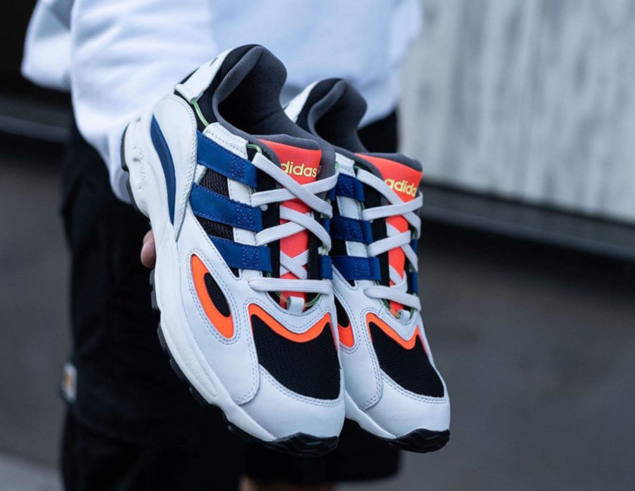 Adidas Lexicon 94 blanche noire bleue et orange (1)