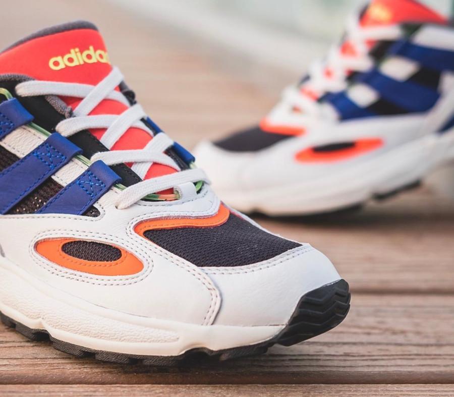 Adidas Lexicon 94 blanche noire bleue et orange (4)