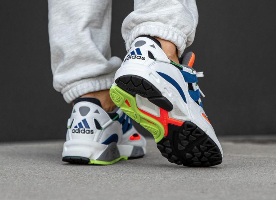 Adidas Lexicon 94 blanche noire bleue et orange (5)