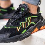 Adidas Ozweego Adiprene 'Core Black Solar Green Hi-Res Coral'