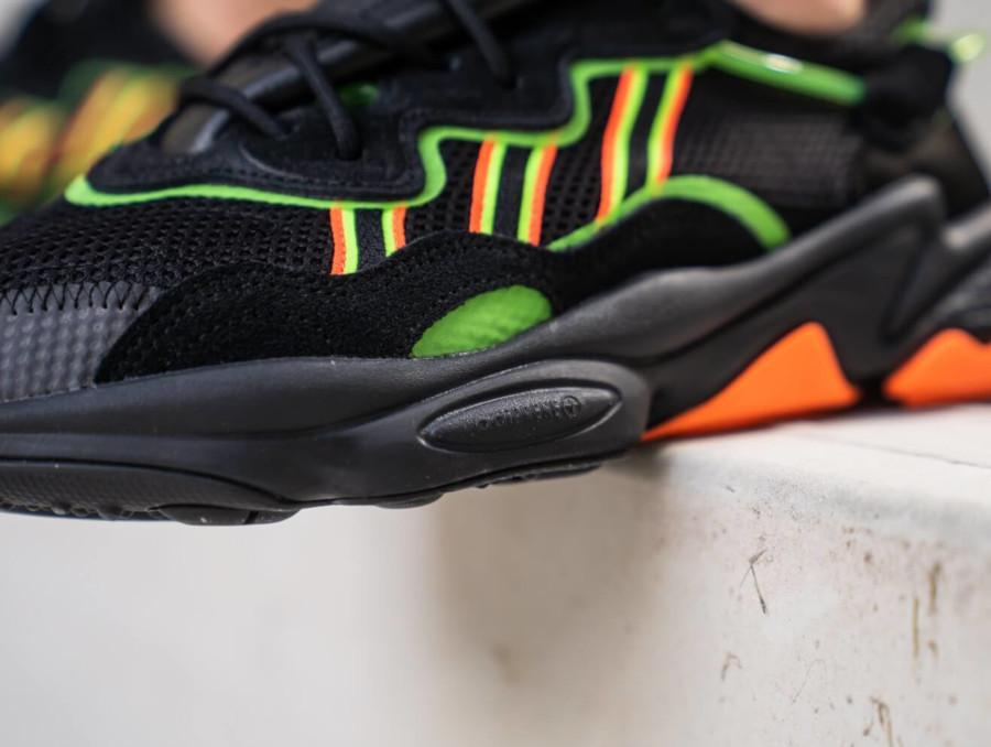 Adidas Ozweego noire vert fluo et orange (3)