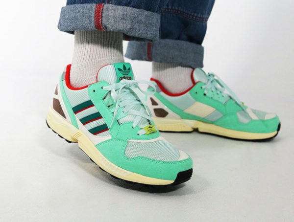 Adidas Torsion ZX9000 OG Mint Scarlet Yellow FU8403