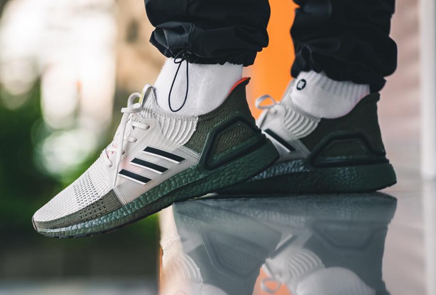 Adidas Ultra Boost 2019 beige et vert militaire (1)