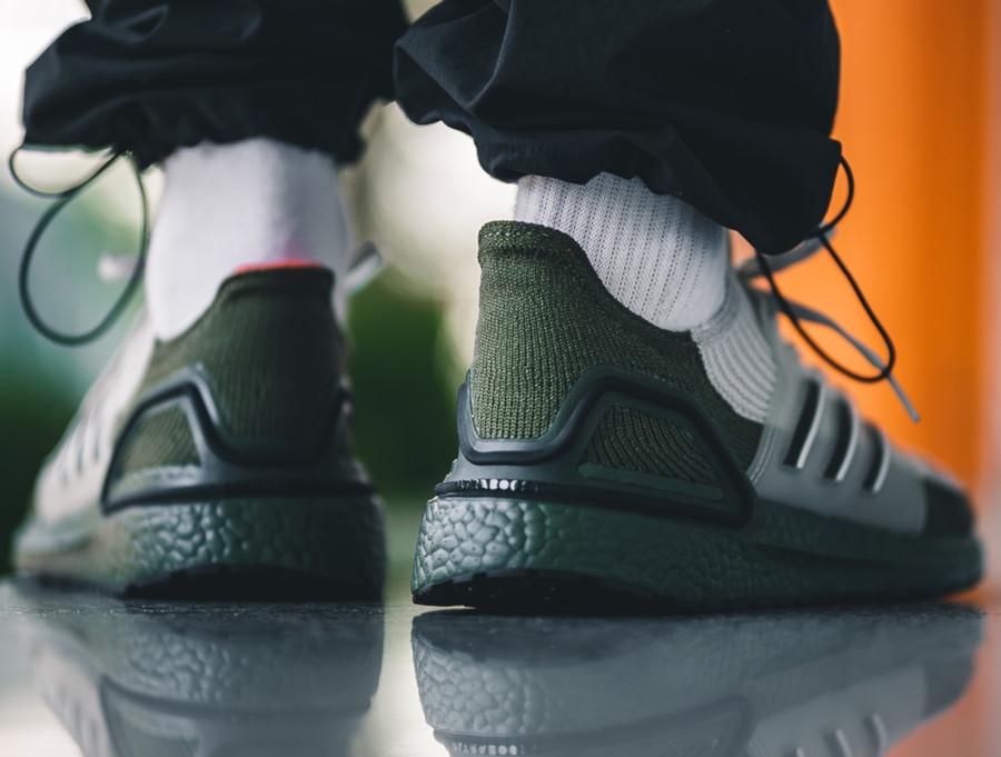 Adidas Ultra Boost 2019 beige et vert militaire (2)