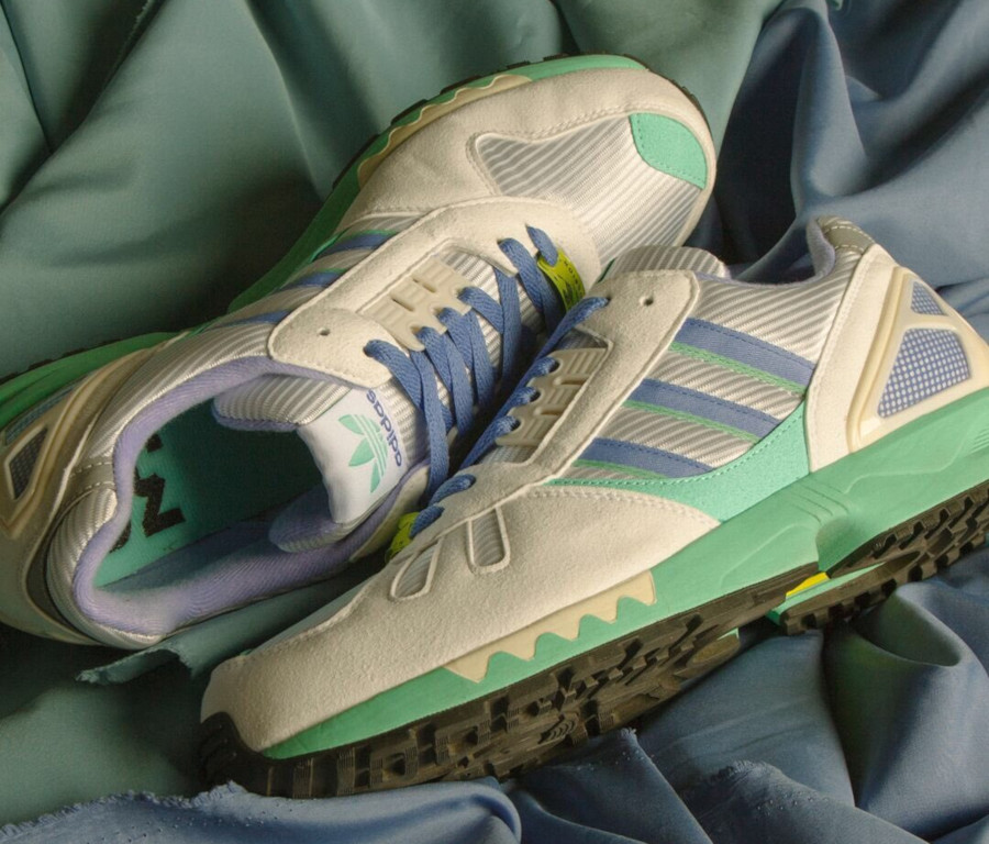 Adidas ZX 7000 blanche violet et vert turquoise (1-1)