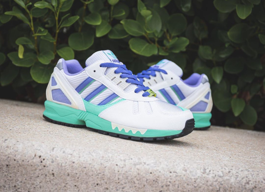 Adidas ZX 7000 blanche violet et vert turquoise (1)