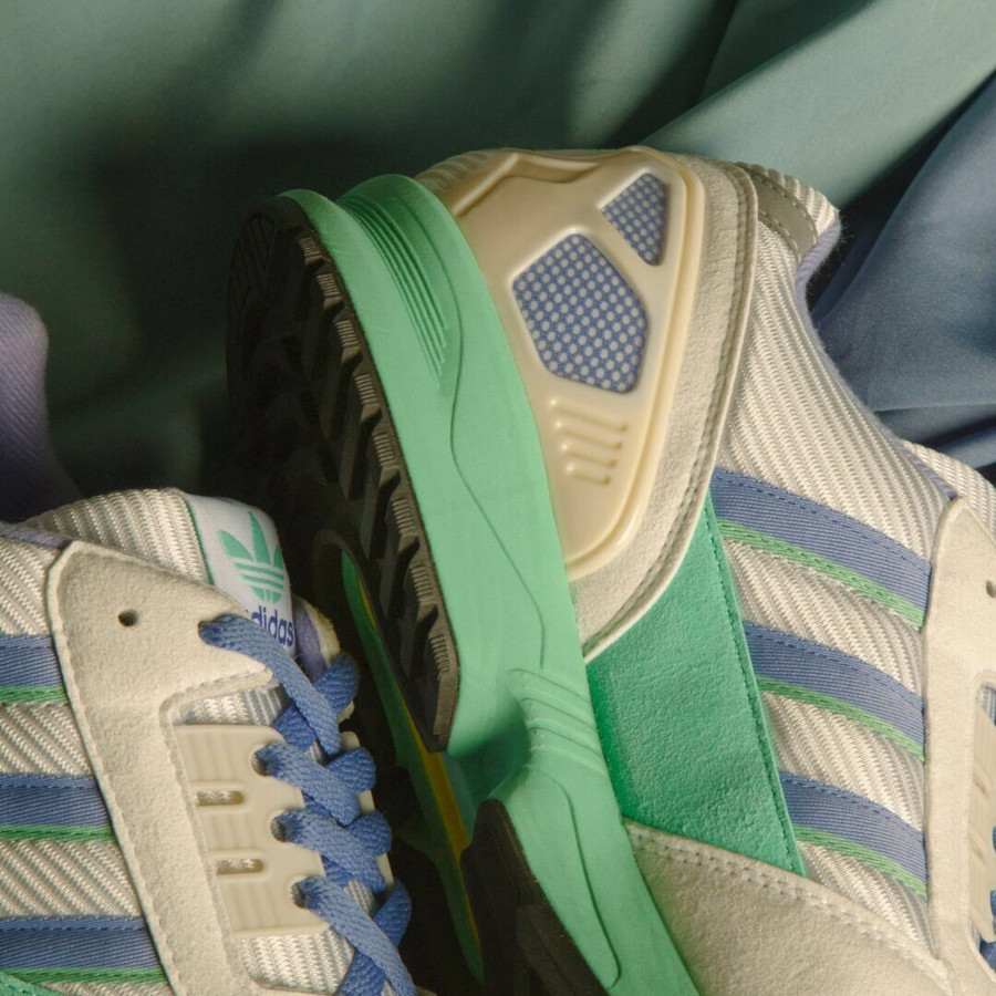 Adidas ZX 7000 blanche violet et vert turquoise (2)