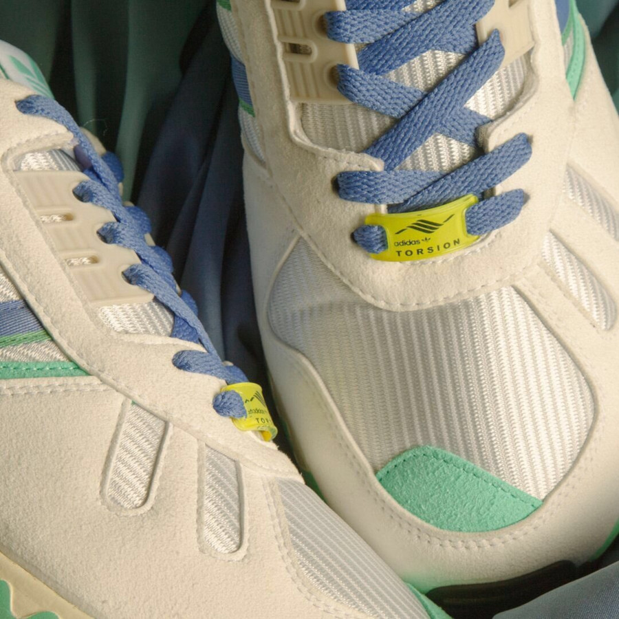 Adidas ZX 7000 blanche violet et vert turquoise (4)
