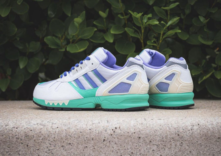 Adidas ZX 7000 blanche violet et vert turquoise (6)