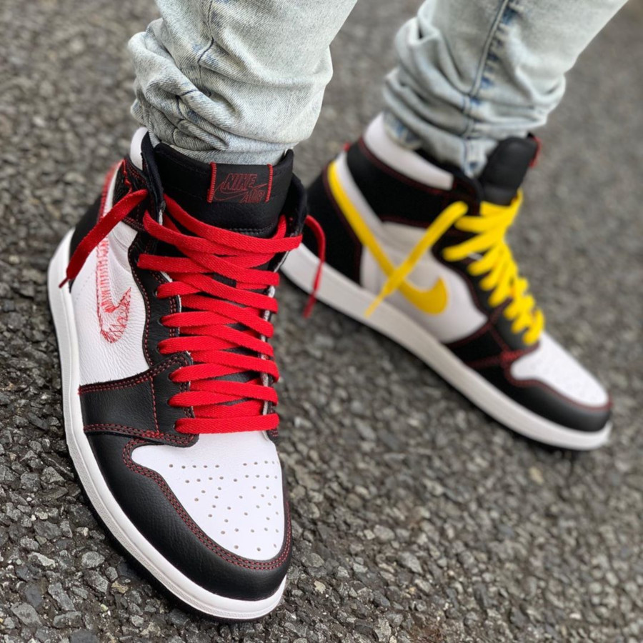 Air Jordan 1 Retro High OG Tour Yellow Black White Red (4)