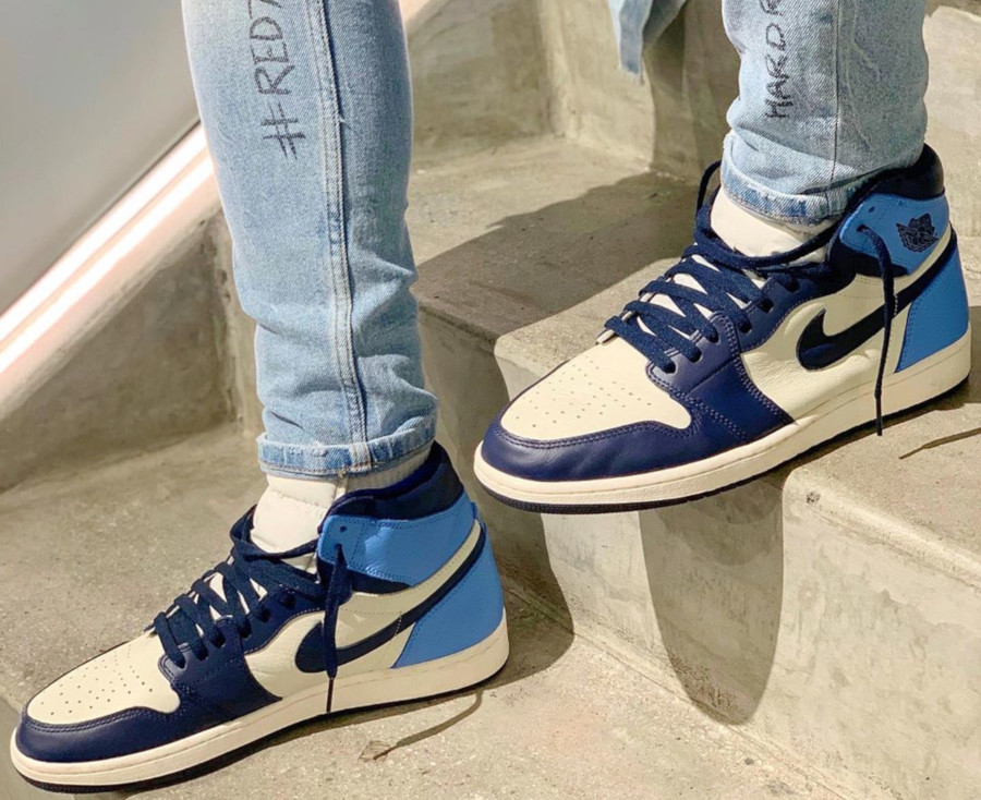 Air Jordan 1 Retro High OG UNC Obsidian 555088-140 (2)