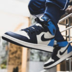 Air Jordan 1 High Retro OG 'UNC' Obsidian Sail University Blue