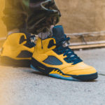 Air Jordan 5 Retro SP Michigan 'Inspire' Amarillo College Navy