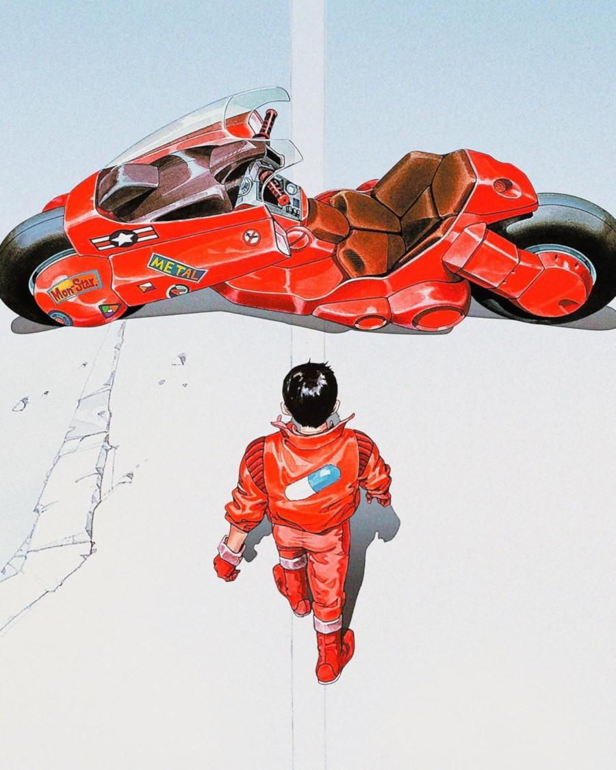 Kaneda et sa moto