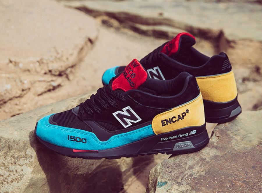 New Balance 1500 noire et multicolore (1)