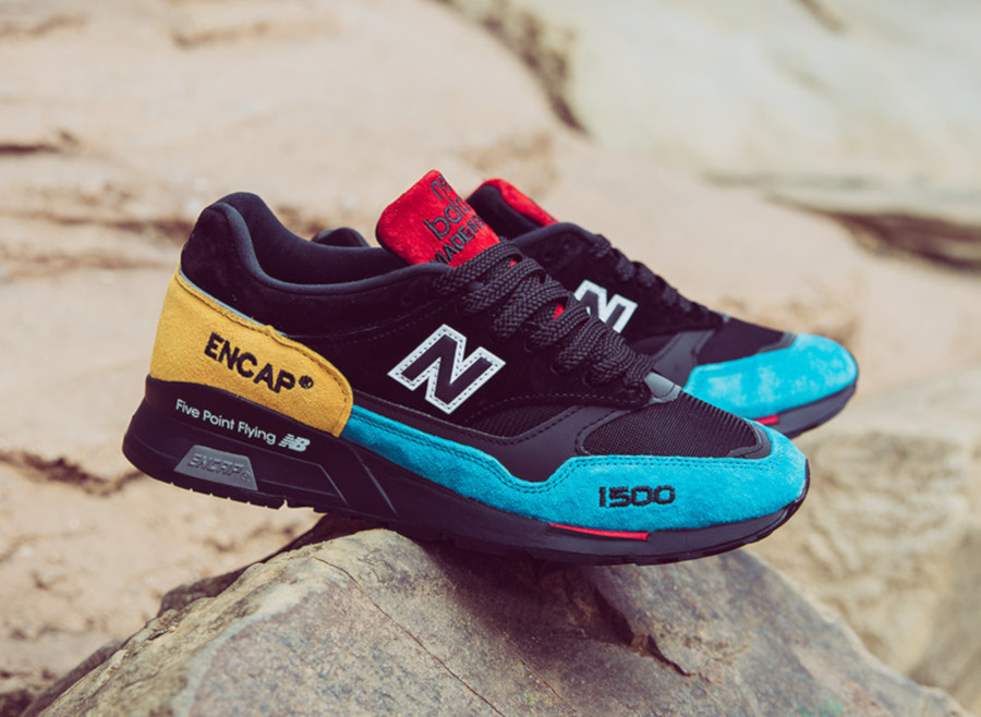 New Balance 1500 noire et multicolore (2)