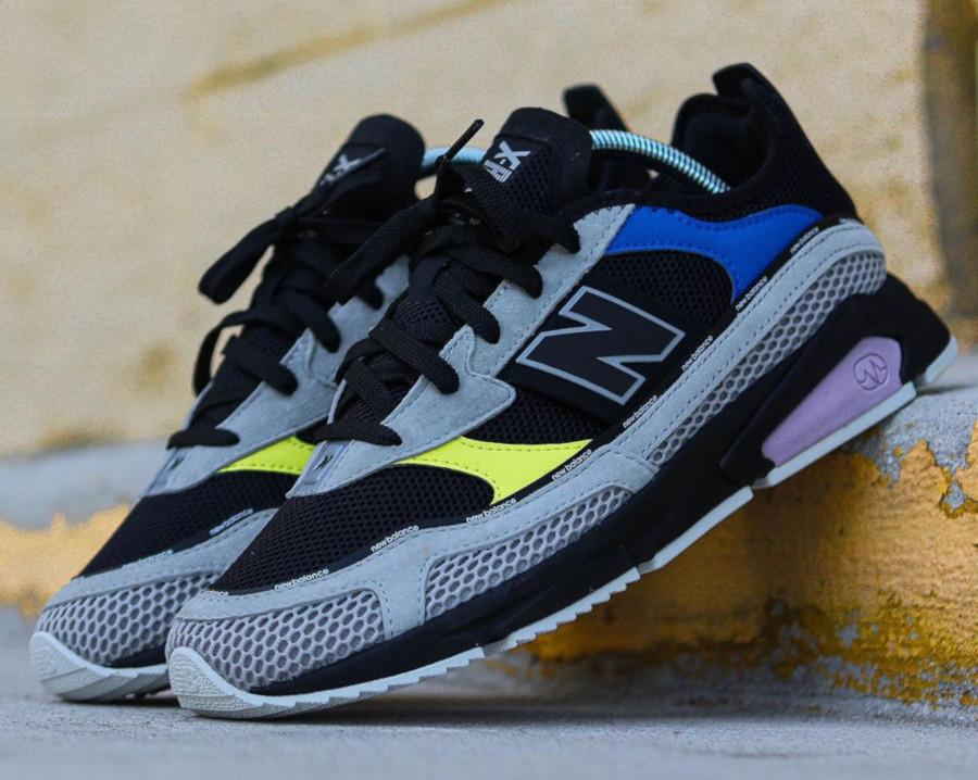 New Balance X Racer grise noire jaune et violet (1)