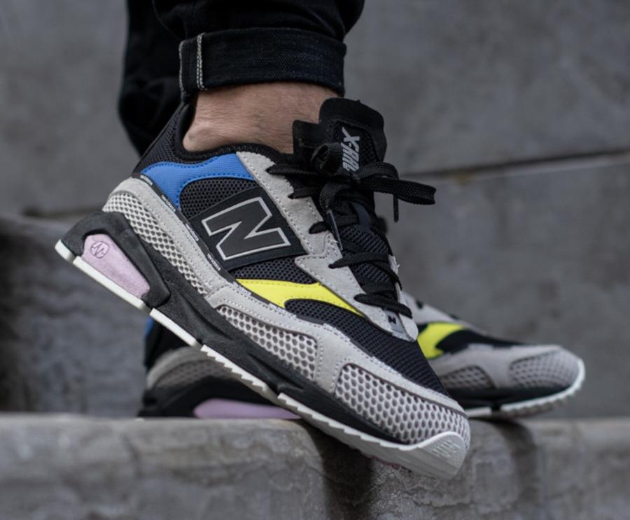 New Balance X Racer grise noire jaune et violet (2)