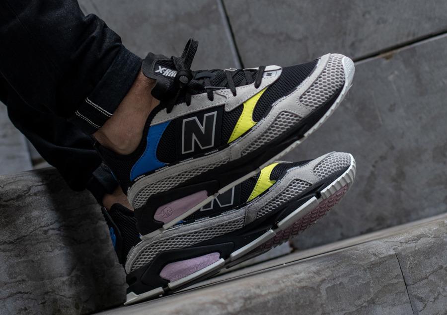 New Balance X Racer grise noire jaune et violet (3)