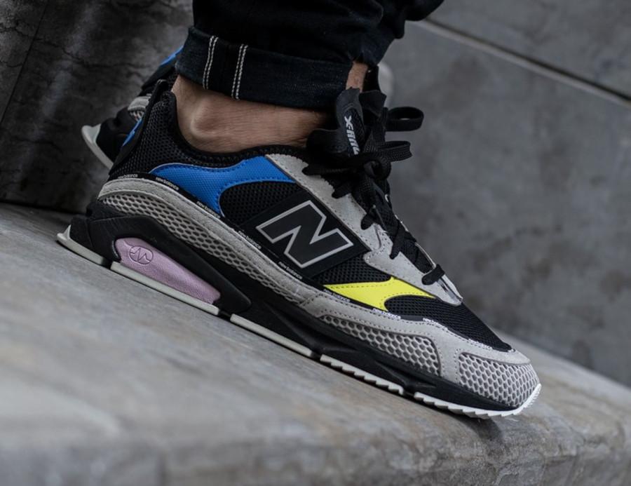 New Balance X Racer grise noire jaune et violet (4)