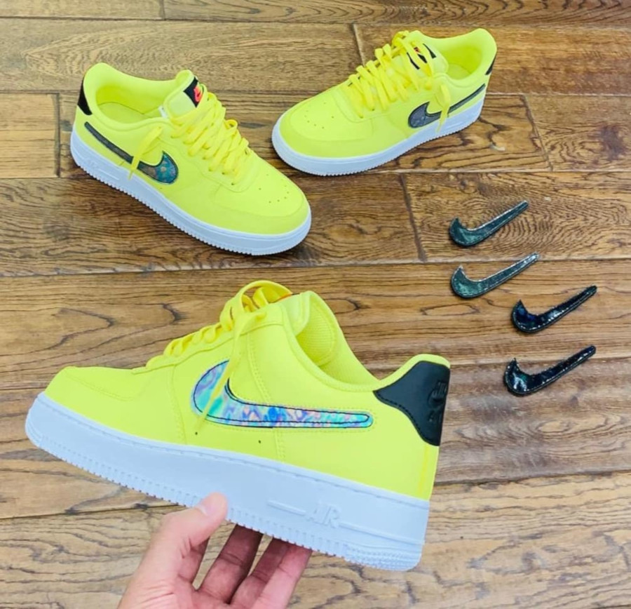 Nike Air Force 1 '07 LV8 Yellow Pulse Smiley Face CI0064-700