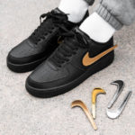 Nike Air Force 1 '07 LV8 3 Black 'Removable Metallic Swoosh'
