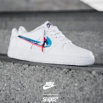Nike Air Force 1 GS Low 3D Swoosh Red Blue