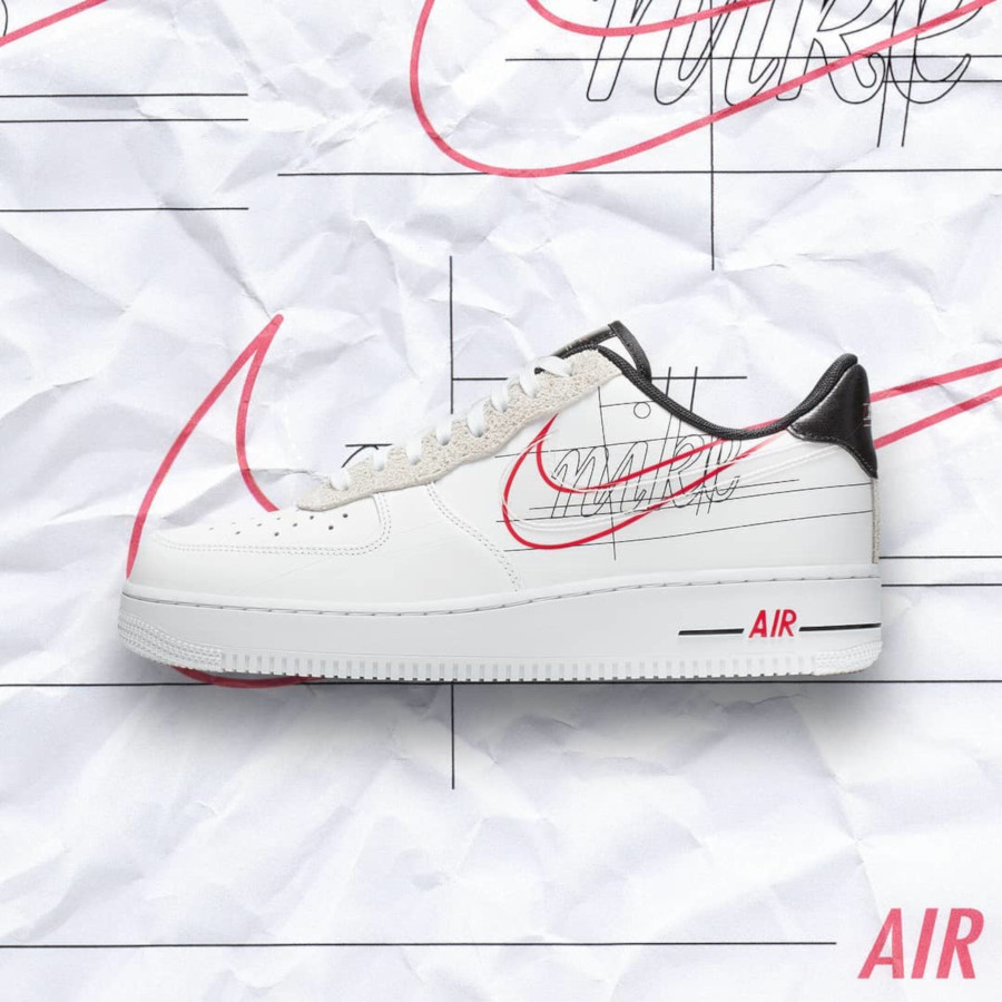 Nike Air Force 1 Low blanche logo sketch (1)
