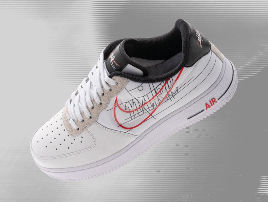 Nike Air Force 1 Low blanche logo sketch (4)