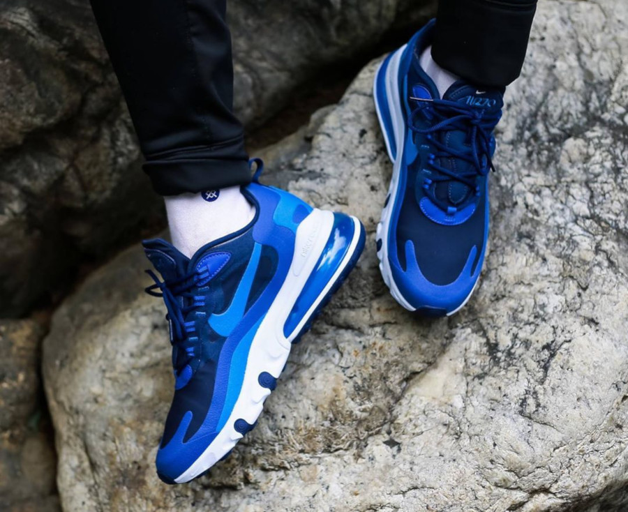 air max 270 react bleu marine