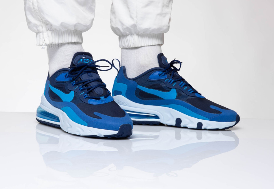 air max 270 react homme bleu